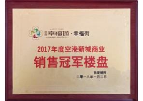 爱游戏官方注册幸福城荣获2017年度空港新城商业销售冠军楼盘